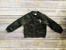 Crazy 8 Girls Army Green Bomber Jacket Size 3T