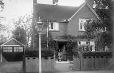 Unknown Location Two Ladies Detached House 1920's? Real Photo Postcard (50UH)
