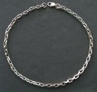 "SOLID SILVER BELCHER BLOCK LINK CHAIN 20"" CHUNKY 925 STERLING"