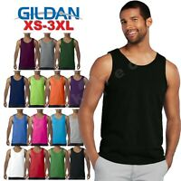 Mens  Gildan Tank Top Ultra CottonWorkout Fitness gym Shirt Solid Color G5200