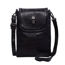 Women Single Shoulder Crossbody Bags, WITERY Gothic Studded Skull Head Mini Bag
