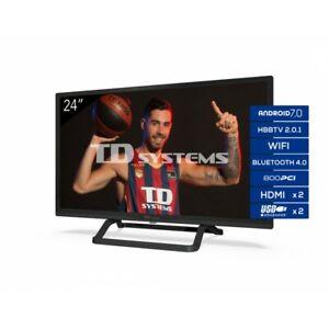 """Smart TV 24"""" HD Android 7.0 HbbTV TD Systems K24DLX11HS-R [Tara estética Outlet]"""