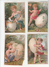 4 Grecian Children Eggs Woods Chas Tollner No Advertising Vict Card c 1880s