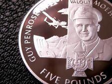 Guy Gibson VC Dambusters Victoria Cross Jersey Silver Proof £5 Crown 2006 BUNC