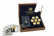 LivvEasy Franklin Mint Founding Fathers Coin Collection - 7-Piece 24-Karat Gold