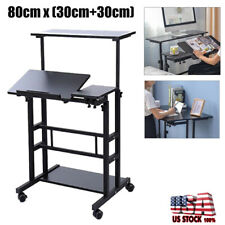 Multi-purpose Height & Angle Adjustable Laptop Standing Desk Table Office Home