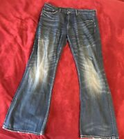 Men's Banana Republic Jeans 35x30 Dark Wash Blue Denim
