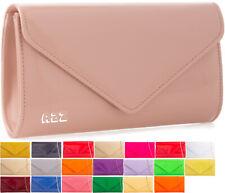 New 21 Colors Women's Fashion Plain Patent Clutch Bag Evening Party Ladies Purse