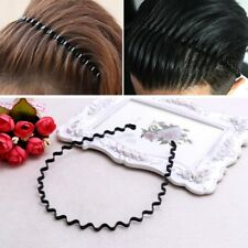 Men Women Metal Sport Biker Hairband Wave Hair Band Hood Headband