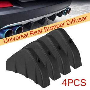 4PCS Universal Car Rear Bumper Chassis Shark Fin Spoiler Collision Protect
