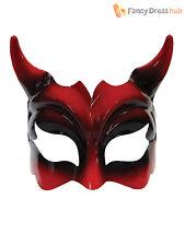 Adult Devil Eye Mask Mens Ladies Horror Halloween Fancy Dress Devilish Accessory