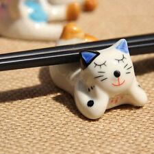 Cute Ceramic Cat Chopsticks Spoon Holder Rack