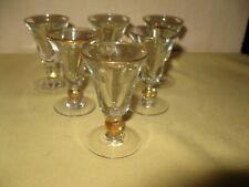 Lot de 6 anciens petits verres à liqueur de bistrot -