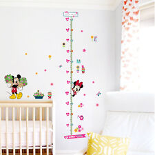 Children Height Growth Chart Measure Mickey Flower Wall Sticker Decor Mural Art