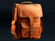 New Vintage Genuine Real Goat Leather Backpack Rucksack Travelling Bag For Women
