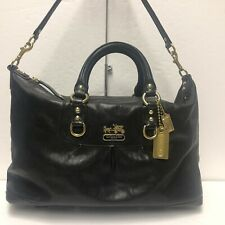 COACH Sabrina Leather Convertible Bag Satchel Shoulder Bag 12949 BLACK