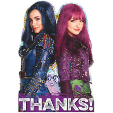DESCENDANTS 2 THANK YOU NOTES (8) ~ Birthday Party Supplies Stationery Disney