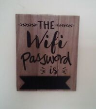 HANGING RUSTIC WOOD CHALKBOARD WIFI Wi-Fi PASSWORD SIGN PLAQUE PUB CAFE BAR B&B