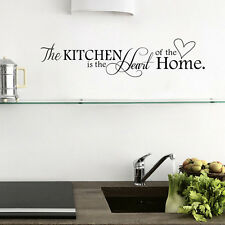Removable Wall Sticker PVC Quote Kitchen+Home Mural Art DIY Decal 2017 Chic