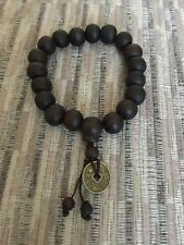 Beaded Wood Buddha Buddhist Prayer Beads Tibet Bracelet Mala Bangle Men Bracelet