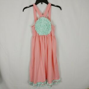 Southern Tots Pastel Pink Blue Nwt Girls Size 12 Dress Applique Ruffle