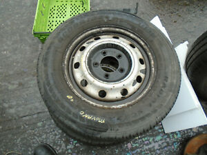 VAUXHALL MOVANO MK1 2008 16 INCH STEEL WHEEL WITH TYRE 225/65R16C REF 4