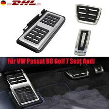 Edelstahl Automatik Fußstütze Pedale Pedalset Für VW Passat B8 Golf 7 Seat Audi.