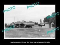 OLD POSTCARD SIZE PHOTO OF APACHE JUNCTION ARIZONA APACHE JUNCTION INN c1940