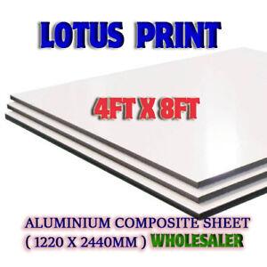 8ft x 4ft 1220m x 2440mm White/Grey Aluminium Composite Sheet ( Dibond Alt ) 3mm