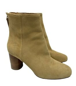 SANDRO 'SACHA' CAMEL SUEDE BOOTS, 36, $550