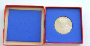 1937 King George VI Coronation Silver Medal In Original Box