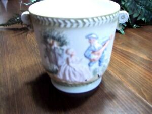 Embassy Fine China Flower Pot 4in Tall Preowned