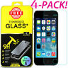 Premium Screen Protector Tempered Glass For iPhone SE 5 6 7 8 Plus X Xs Max XR 4