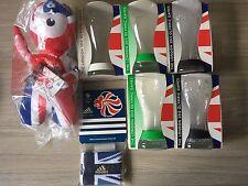 2012 Olympics Bundle x5 McDonald's Coke Cola Glasses, Wenlock Mascot, Sweatband