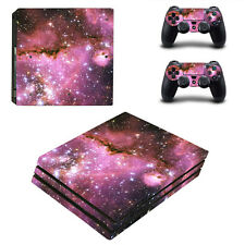 Sony PS4 Pro Console and Controller Skins / Decal --Purple Space Nebula (P-0242)