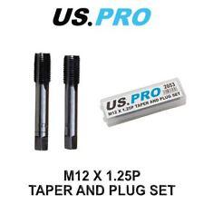 US PRO M12 x 1.25P Taper & Plug Set ( Tap & Die ) 2653