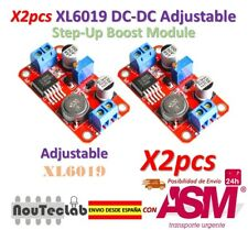 2pcs DC DC Boost Power Supply XL6019 Voltage Stabilized 5V/12V/24V Adjustable