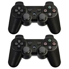 2x Black Wireless Bluetooth Game Controller Pad For Sony PS3 Playstation 3