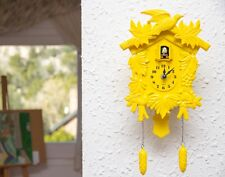 Walplus Yellow Antique Cuckoo Wall Clock DIY Art Home with UK 2 years Warranty