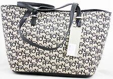 Kenneth Cole Reaction Handbag Shopper Black White Purse Bag New  Authentic