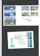 Großbritannien,1968 zwei Briefe mit Sonderstempeln, Ganzsachen, Michelwert € 25