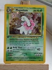 MINT / NM 1st edition Italian Meganium 10/111 Holo Rare Neo Genesis Pokemon Card