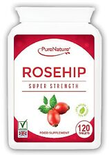 120 ROSEHIP PURE Double Strength 5000mg Tablets Suitable for Vegetarians, Vegans