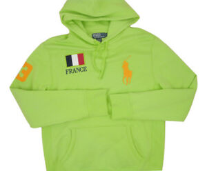 NEW Polo Ralph Lauren Sweatshirt Hoodie!  L  Italy Great Britain  France  Brazil