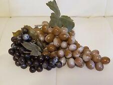 2 Vintage Plastic Grapes Bunches Fruit Decor Kitchen Retro Green Purple