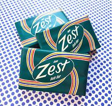 Zest Aqua Soap  Mini Bath Lot of 15 Individual Bars  Bar 1.3 oz Travel Size Soap