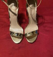 Aldo Gold Patent Heels Helsa -82 Aldo Sandal Women's Size 7