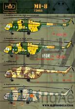 Hungarian Aero Decals 1/72 Russian MI-8 Helicopter in International Service