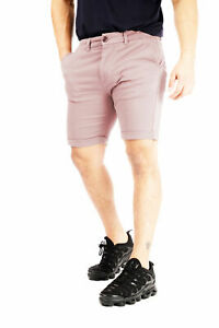 River Road Stretch Shorts Chino Slim Fit Roll Up Cotton Half Pant Cargo New