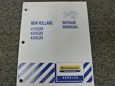New Holland 410gm 420gm 430gm Finishing Mower Shop Service Repair Manual Book